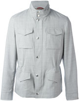 Brunello Cucinelli high neck buttoned jacket