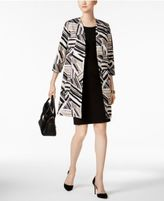 Kasper Abstract-Print Ottoman Jacket