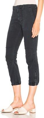 Nili Lotan Cropped Military Pant in Navy
