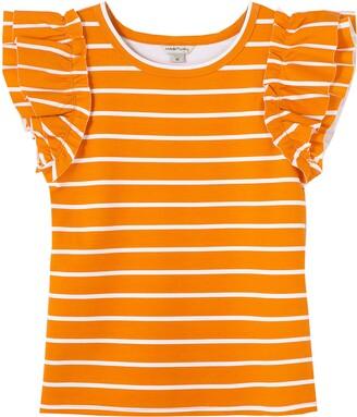 Habitual Kids' Raye Stripe Ruffle Sleeve T-Shirt