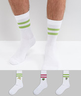 Asos Sports Style Socks With Alien Embroidery 3 Pack