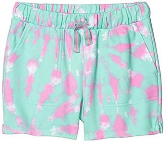 crewcuts by J.Crew Terry Ester Shorts (Little Kids/Big Kids) (Aqua/White/Pink) Girl's Clothing
