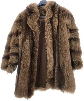 Saint Laurent Brown Fur Coats