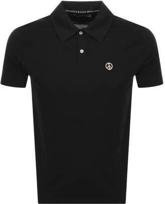 Moschino Love Short Sleeved Polo T Shirt Black