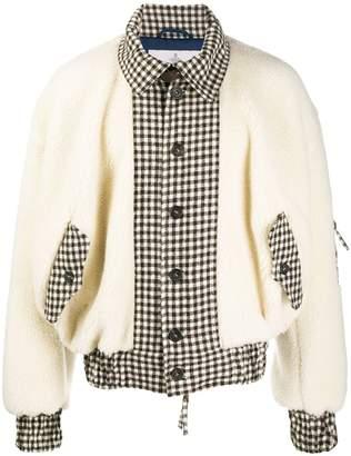 Vivienne Westwood contrast check-print bomber jacket