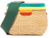 Edie Parker Jane Striped Lid Cross Body Bag