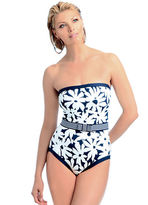 Anne Cole Elastic Belted & Bow Bandeau One-Piece