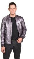 Versace Mens Leather Jacket Slate, EU-54 (US-44)