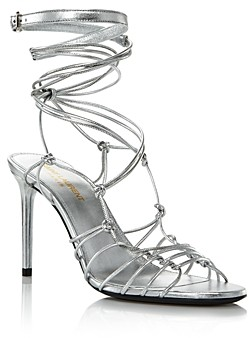 Saint Laurent Women's Robin 85 Strappy High-Heel Sandals