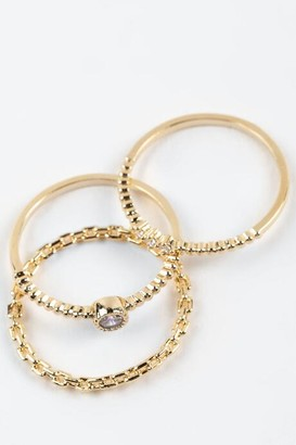 francesca's Cristina CZ Ring Set - Crystal