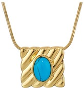 House Of Harlow Ribbed Valda Pendant Necklace