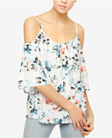Sanctuary Camilla Floral-Print Cold-Shoulder Top