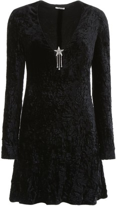 Miu Miu Crystal Star Mini Dress