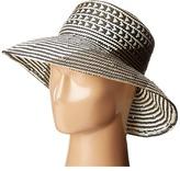 BCBGMAXAZRIA Oversized Straw Bucket Hat Caps