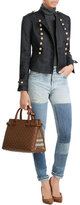 Burberry Medium Banner Leather Tote with Studs