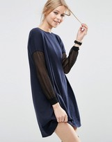 Asos Sweater Dress with Sheer Sleeve Detail