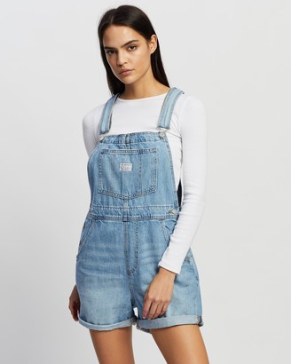 Levi's Women's Blue Playsuits - Vintage Shortalls - Size XS at The Iconic