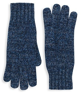 Saks Fifth Avenue Marled Cashmere Knit Gloves