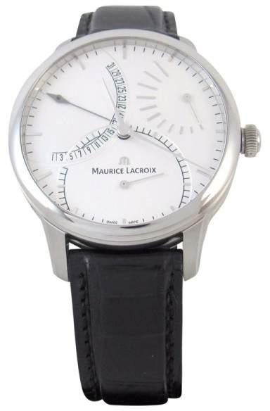 Maurice Lacroix Masterpiece MP6508-SS001-130 Retrograde Calendar 43mm Mens Watch