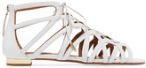 Aquazzura Ivy Leather Sandals - White