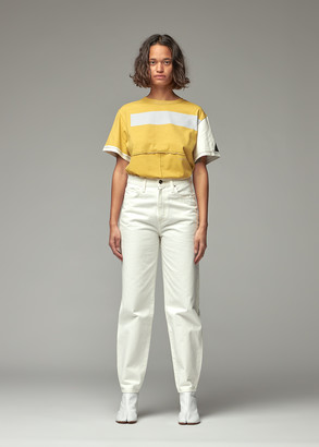 Eckhaus Latta Women's Lapped Oversized T-Shirt in Atmospheric Screen Print Top Size XS