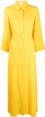 Sara Battaglia Oversized Shirt Maxi Dress