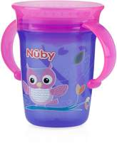 Nuby 531036OW No-Spill 3600 Wonder Cup 8oz., Purple/pink