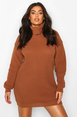 boohoo Plus Turtleneck Sweater Dress