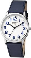 Limit Limit White Dial Navy Leather Strap Mens Watch