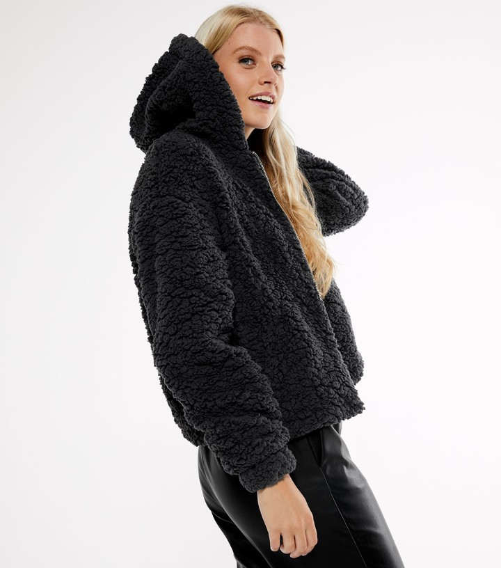Thumbnail for your product : New Look Hooded Teddy Jacket
