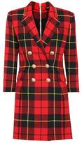 Balmain Plaid wool dress