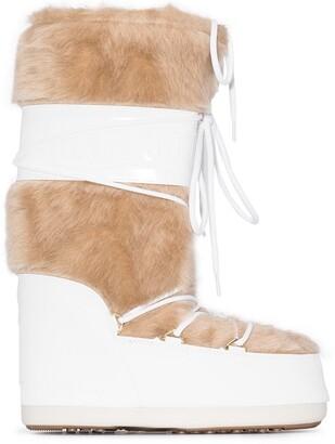 Moon Boot Faux Fur Trim Classic Snow Boots