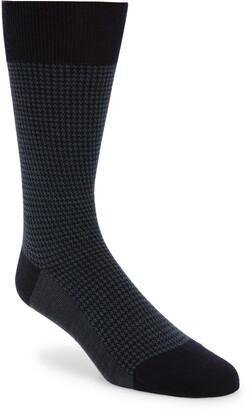 Pantherella Highbury Houndstooth Dress Socks
