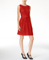 Maison Jules Bow-Detail Fit & Flare Dress, Only at Macy's