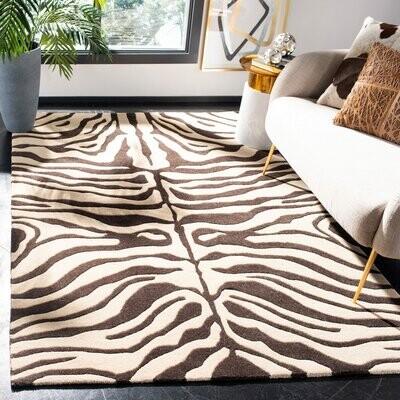 Hand Tufted Wool Baby Zebra Carpet 2/'x3/' Feet Animal Theme African Rug DN-2112