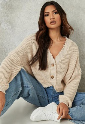 Missguided Distressed Knitted Cardigan