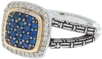 Effy 18K Gold & Sterling Silver Sapphire & Crystal Ring - Size 7