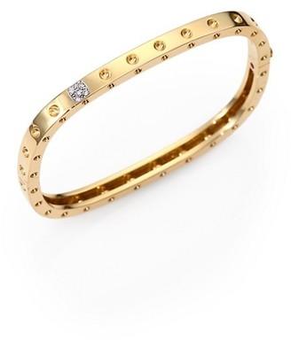 Roberto Coin Pois Moi Diamond & 18K Yellow Gold Single-Row Bangle Bracelet