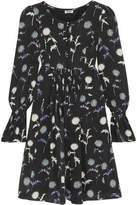 Kenzo Floral-Print Crepe De Chine Mini Dress