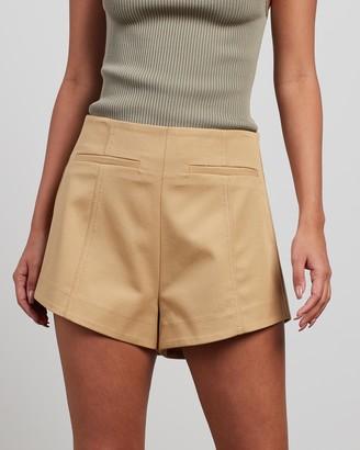 Bec & Bridge Bec + Bridge - Women's Neutrals High-Waisted - Serge Shorts - Size 8 at The Iconic