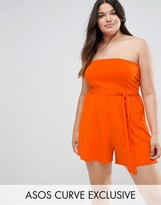 Asos Bandeau Romper with Tie Detail