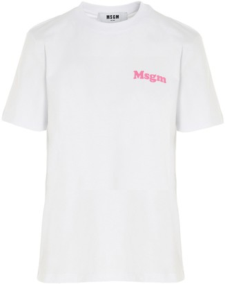 MSGM Logo Printed T-Shirt