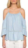 Willow & Clay Women's Off The Shoulder Chambray Top