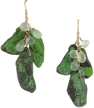 Devon Leigh Green Turquoise Drop Earrings