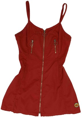 Replay Red Cotton Dress for Women Vintage
