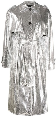 MSGM Metallic Trench Coat