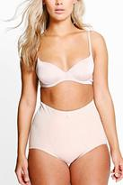 Boohoo Plus Ava Satin Seam Detail Control High Waist Brief