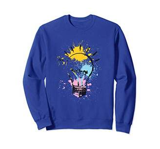 IDEA Paint Splatter Light Bulb Design Sweatshirt