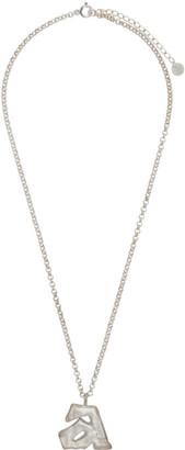 Ader Error Silver Aspect Necklace