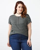 Penningtons Girlfriend Fit Patterned T-Shirt